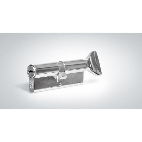 """Цилиндровый механизм КРИТ """"PERFO"""" Р-238(80)-Хп ключ-вертушка хром полир."""