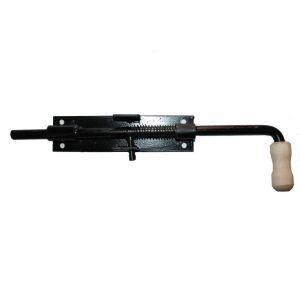 Задвижка гаражная вертикальная с пружиной, с ручкой 200/50мм №9