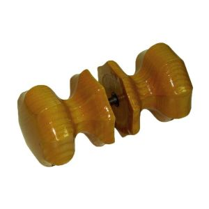 Ручка-кнопка  РК 3 граненая темный орех