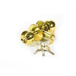 Ручка защелка c ключом 535-PB-ЕТ золото