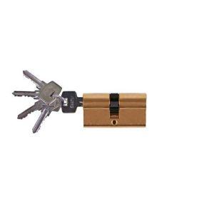 Цилиндровый механизм Оберег A 90мм 5 К  PB ключ-ключ золото