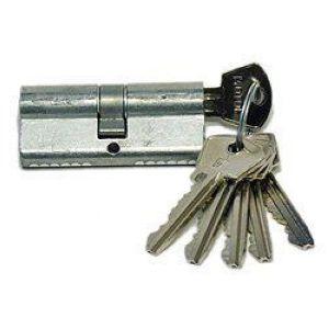 Цилиндровый механизм Мотор-Сич МЦ1(02) ключ-ключ хром 4 ключа
