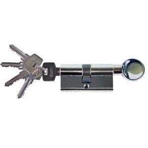 Цилиндровый механизм Оберег AG 60мм 5 К CP ключ-вертушка