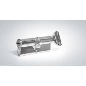 """Цилиндровый механизм КРИТ """"PERFO"""" Р-238(90)-Хп ключ-вертушка хром полир."""