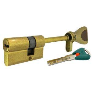 """Цилиндровый механизм КРИТ """"PERFO"""" Р-238(60)-Лп ключ-вертушка латунь полир."""
