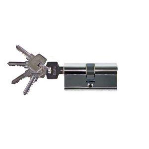 Цилиндровый механизм Оберег А 80мм 5 К CP ключ-ключ хром