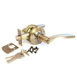 Ручка защелка с ключом 785-AB-ET/ТИТАН 220-00 бронза