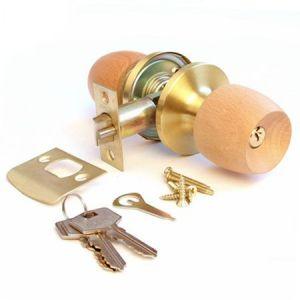 Ручка защелка с ключем (рюмка) IDEA 545-PB-ET светлое дерево