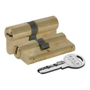 Цилиндровый механизм KALE KILIT 164 SN/80 ключ-ключ латунь