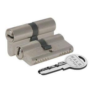Цилиндровый механизм KALE KILIT 164 SN/80 ключ-ключ никель