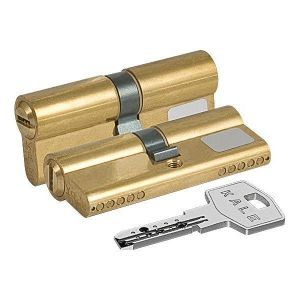 Цилиндровый механизм KALE KILIT 164 BN/70 ключ-ключ латунь