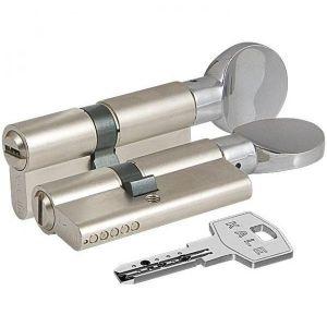 Цилиндровый механизм KALE KILIT 164 BM/80 ключ-вертушка никель