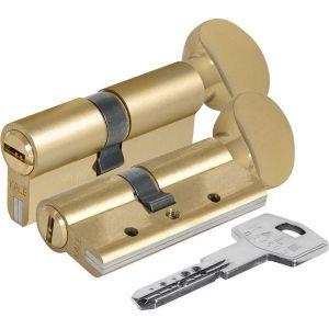 Цилиндровый механизм KALE KILIT 164 DВM-E/68 ключ-вертушка с защитой от разрыва латунь