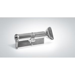 """Цилиндровый механизм КРИТ """"PERFO"""" Р-238(30-40Н)-Хп ключ-вертушка хром полир."""