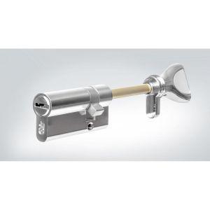Цилиндровый механизм КРИТ Р-238st(30/20/80)-Хп ключ-вертушка хром полир.