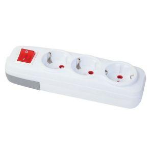 Корпус удлинителя 3 гн. с/з с выкл. с защитой FAR F269