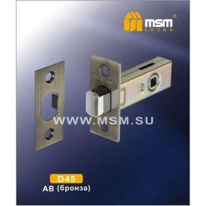 Механизм задвижки MSM D45 AB бронза