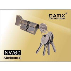 Цилиндровый механизм DAMX NW60 AB ключ-вертушка бронза