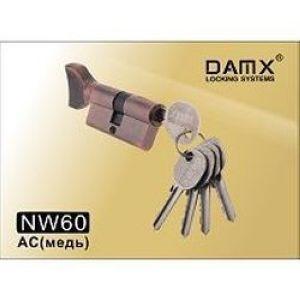 Цилиндровый механизм обычный ключ-вертушка NW60mm DOMAX AC медь