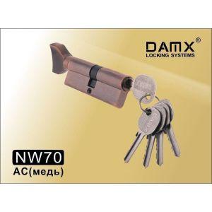 Цилиндровый механизм DAMX NW70 AC ключ-вертушка медь