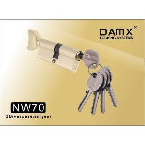 Цилиндровый механизм DAMX NW70 SB ключ-вертушка матовая латунь