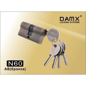Цилиндровый механизм DAMX NW60 AB ключ-ключ бронза