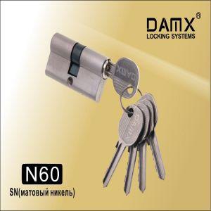 Цилиндровый механизм DAMX NW60 SN ключ-ключ матовый никель