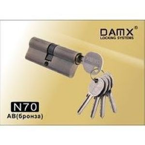 Цилиндровый механизм обычный ключ-ключ N70mm DOMAX AB бронза
