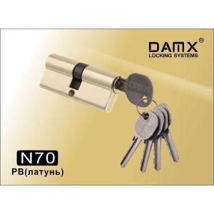 Цилиндровый механизм DAMX NW70 PB ключ-ключ полированная латунь