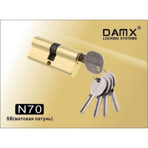 Цилиндровый механизм DAMX NW70 SB ключ-ключ матовая латунь
