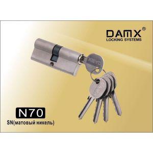 Цилиндровый механизм DAMX NW70 SN ключ-ключ матовый никель