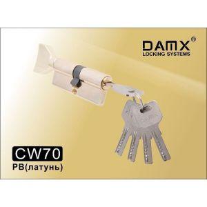 Цилиндровый механизм DAMX CW70 PB перфо ключ-вертушка полированная латунь