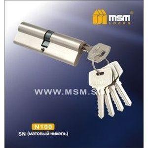 Цилиндровый механизм обычный ключ-ключ N100mm SN матовый никель