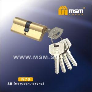 Цилиндровый механизм DAMX NW70 SB ключ-ключ матовый никель