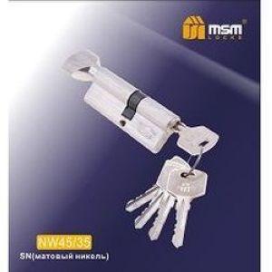 Цилиндровый механизм обычный ключ-вертушка NW45/35mm SN матовый никель