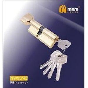 Цилиндровый механизм обычный ключ-вертушка NW35/45mm PB латунь