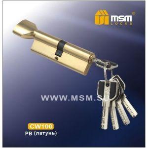 Цилиндровый механизм MSM CW100 PB перфо ключ-вертушка полированная латунь