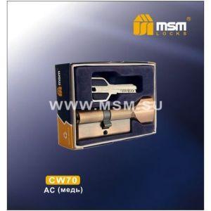 Цилиндровый механизм MSM CW70 AC перфо ключ-вертушка медь
