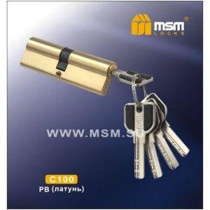 Цилиндровый механизм MSM C100 PB перфо ключ-ключ полированная латунь