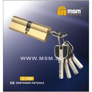 Цилиндровый механизм MSM C100 SB перфо ключ-ключ матовая латунь