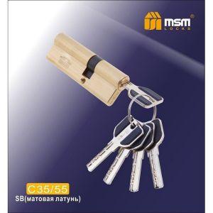 Цилиндровый механизм MSM C35/55 SB перфо ключ-ключ матовая латунь