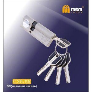 Цилиндровый механизм MSM C35/55 SN перфо ключ-ключ матовый никель