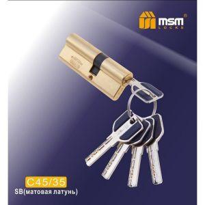 Цилиндровый механизм MSM C45/35 SB перфо ключ-ключ матовая латунь