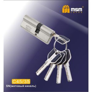 Цилиндровый механизм MSM C45/35 SN перфо ключ-ключ матовый никель