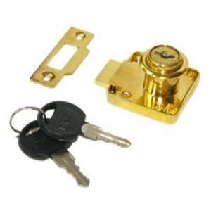 Замок мебельный KL-338 PB (золото)