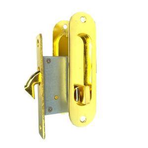 Замок мебельный для шкафа-купе ABV PB-ВК (золото) с фиксатором