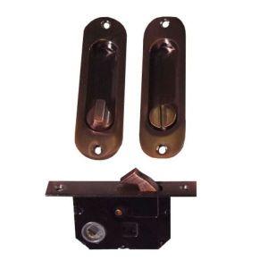 Замок мебельный для шкафа-купе ABV AC-ВК (медь) с фиксатором
