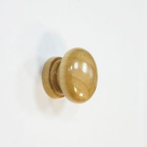 Ручка кнопка мебельная KL-3312 Ф35 WH (светлое дерево)
