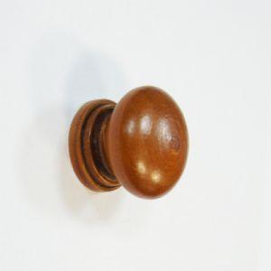 Ручка кнопка мебельная KL-3312 Ф35 CH (темное дерево)