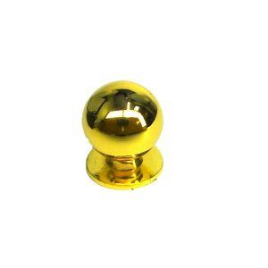 Ручка кнопка мебельная KL-288M PB (золото)